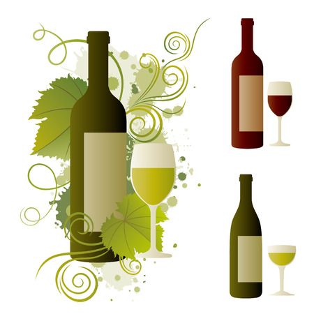 wine themed design element Vector