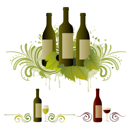 wine themed design element Stock Vector - 7511959