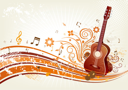 themed: music themed design element
