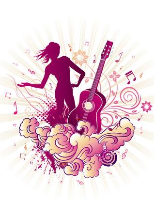 belle: music themed design element