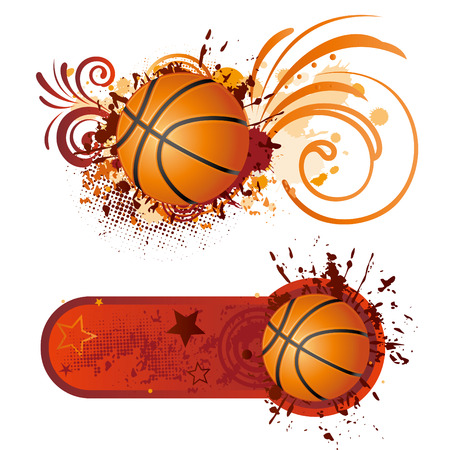 attern: basketball design element Illustration