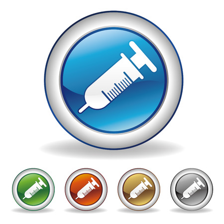 syringes: vector syringe icon set Illustration