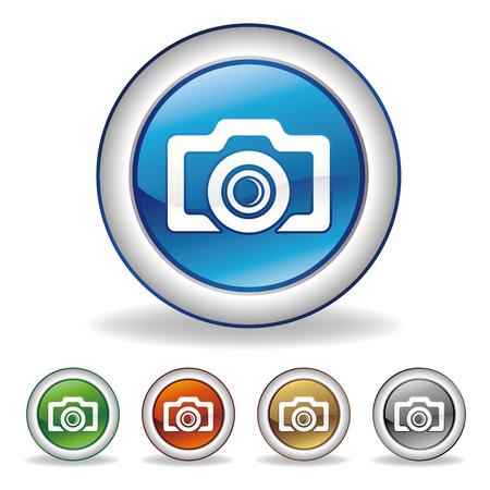 photography logo: vector camera icon set