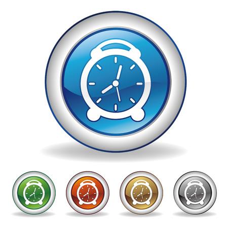 vector clock icon set Vector
