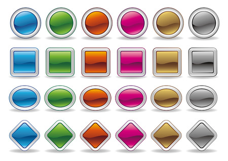 blank colored icon set on white background Vector