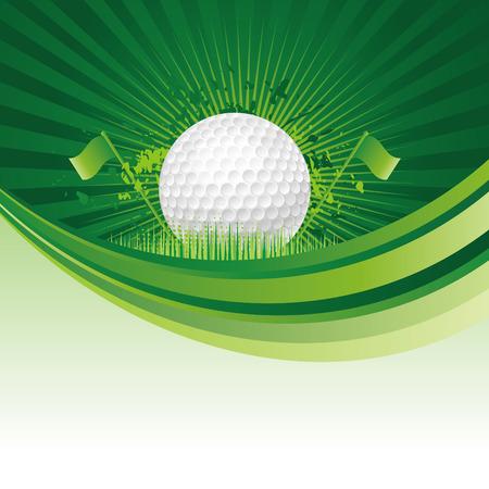 golf design elements,green background Vector