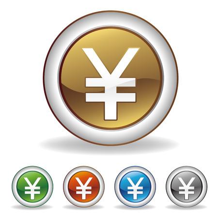 yuan: vector yuan icon set Illustration