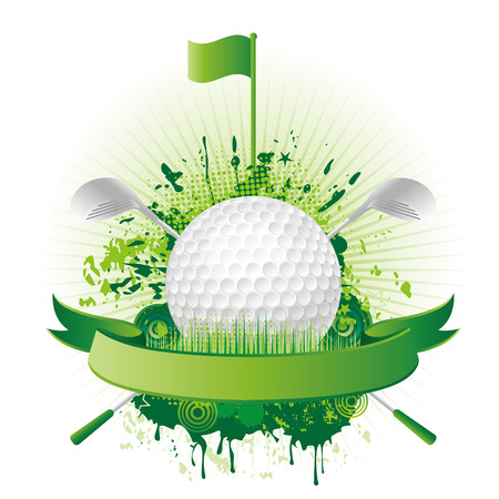 vector golf design elements Vector
