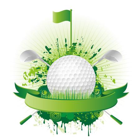 golf flag: vector golf design elements