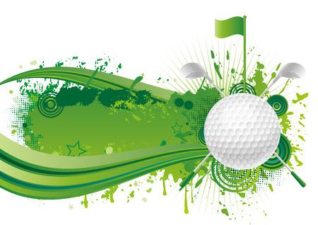 play golf: vector golf design elements