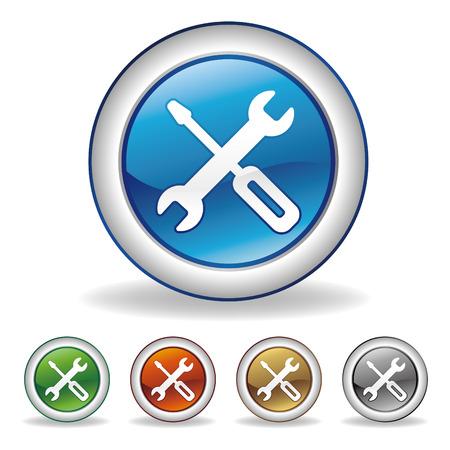 Vector gereedschap icon set