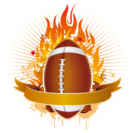 football,flames,design element Vector