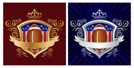 football,shield,crown,abstract background Vector