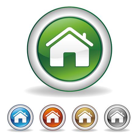 house icon set Stock Vector - 7528427