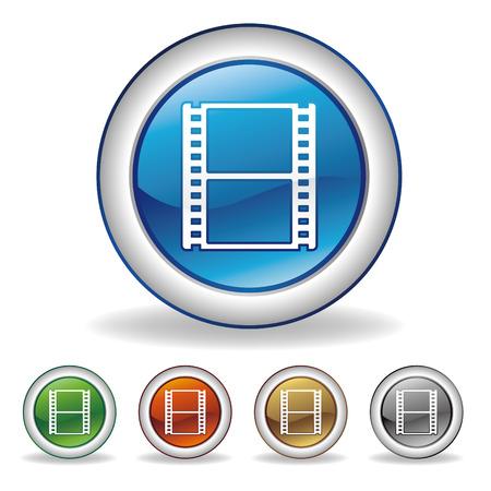 video icon set 矢量图像