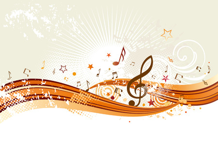horisontal music banners Vector
