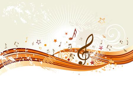 horisontal music banners Vector