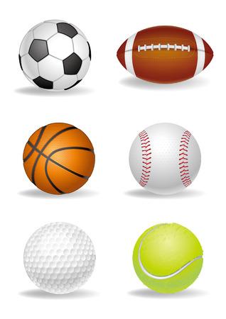 Sport-Ball auf weißem Hintergrund  Vektorgrafik