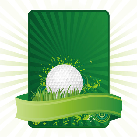 play golf: golf design element