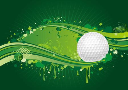 golf design element,green background Vector