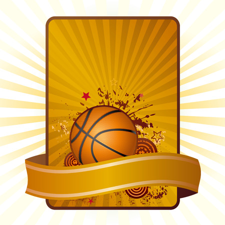 brown backgrounds: basketball background Illustration