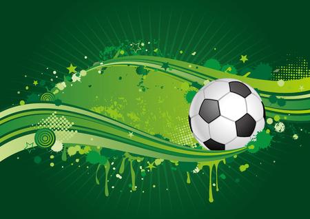 soccer design element,green background Vector