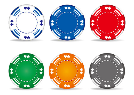 casino elements,gambling chips Vector