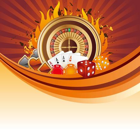 카지노 요소, 도박 배경 일러스트