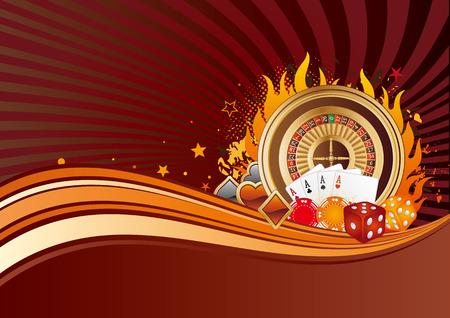 casino elements,gambling background Stock Vector - 7528564