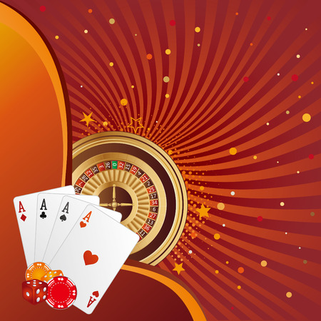casino elements,gambling background Stock Vector - 7528513