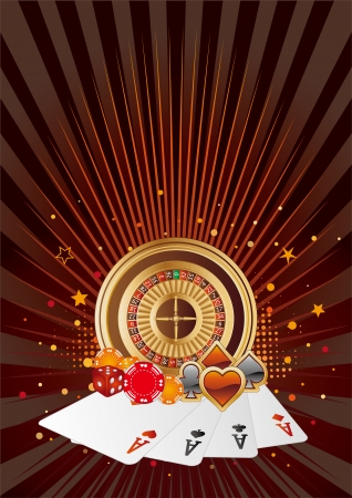 casino elements,gambling background Vector