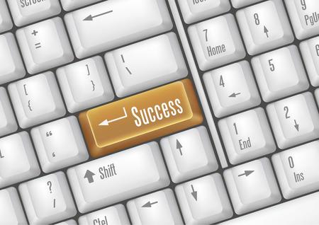 keyboard buttons - success Stock Vector - 7528603