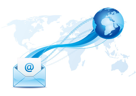 e-mail icon, global communication Vector