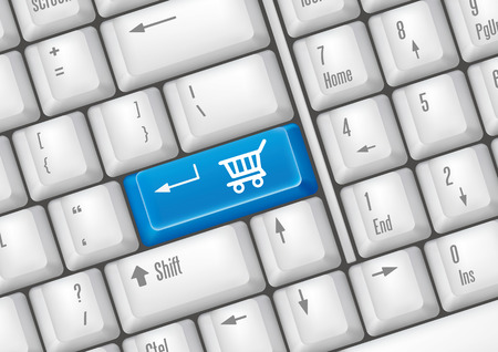 ecommerce icons: keyboard buttons - shopping
