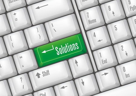 keyboard buttons - solution Stock Vector - 7528626