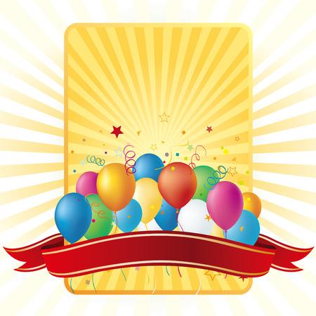 disign: balloons disign element,celebration background Illustration
