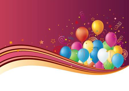 balloons disign element,celebration background Vector