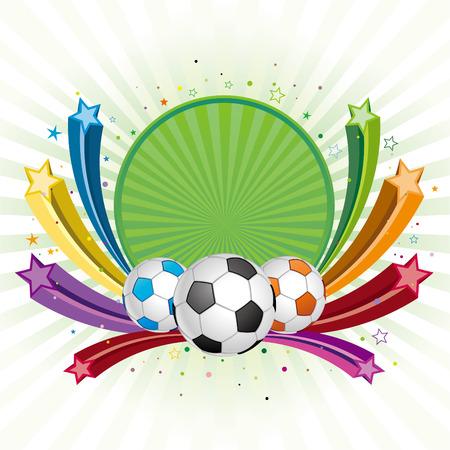 soccer design element,colorful star Vector