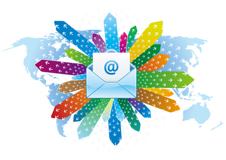 e-mail icon, global communication Stock Vector - 7528567