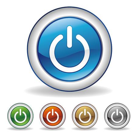 power button set Stock Vector - 7528502
