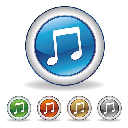 sound icon: music icon set Illustration