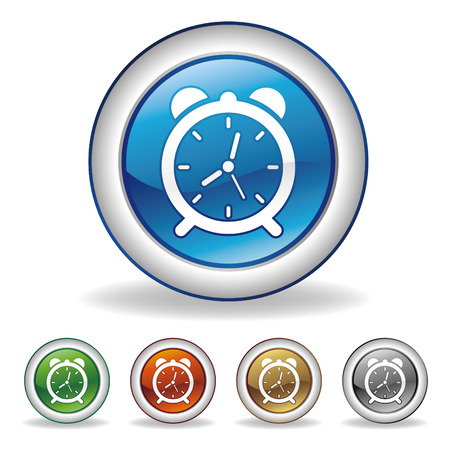 clock icon set Stock Vector - 7528504
