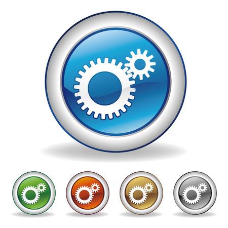 rueda dentada: conjunto de iconos de engranaje