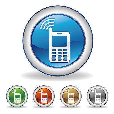 portable radio: cell-phone button set