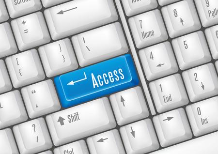 logon: keyboard buttons-access Illustration