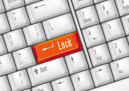 keyboard buttons-lock Stock Vector - 7528741