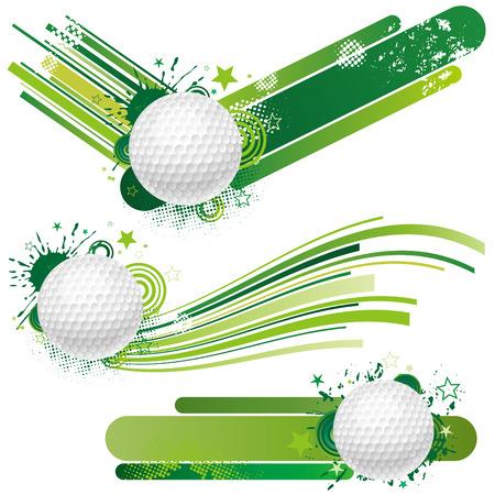 pelotas de deportes: elemento de dise�o de golf  Vectores