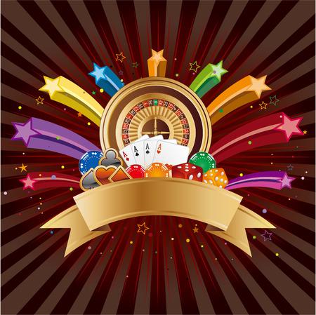 casino elements,colorful star 일러스트