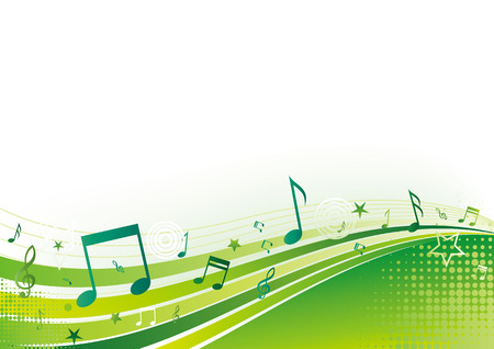 note,music,green background