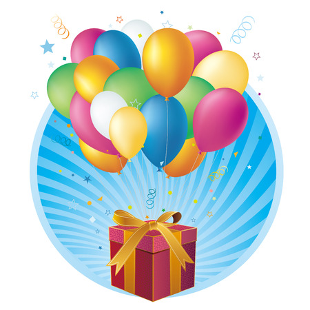 gift box,balloon,celebration background Stock Vector - 7528695